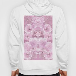 Pink Mirrored Floral Hoody