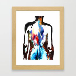Flames on Back Tattoo Art Framed Art Print