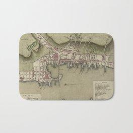 Map of Newport 1777 Bath Mat