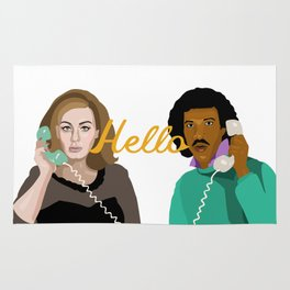 Two People Saying Hello - By Cup of Sarcasm Rug