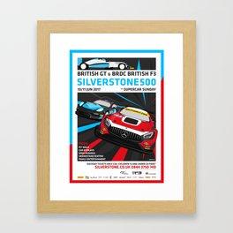 British GT and BRDC British F3, Silverstone 2017 Framed Art Print