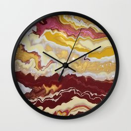 Cranberry Wine and Dandelion Wall Clock