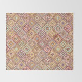 Granny's Millefiori Quilt-Spring Colors Throw Blanket