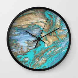 Woody Water Wall Clock