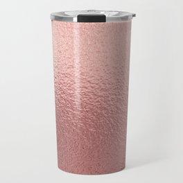 Pure Rose Gold Metal Pink Travel Mug