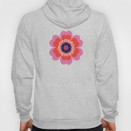 Lightweight - 70s retro throwback floral flower art print minimalist trendy 1970s style Hoody