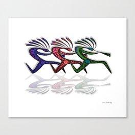 RUNNING  KOKOPELLI II Canvas Print