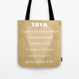 YaYa Typography Tote Bag