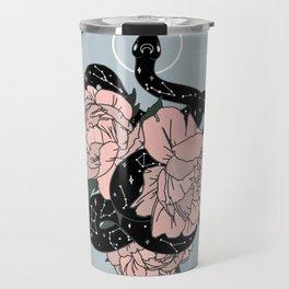 Celestial Snake in Blue Original by Moon Goddess Market Travel Mug