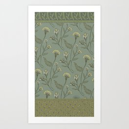 Dazed - Floral Pattern Art Print