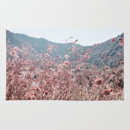 California Pink Flowers Rug