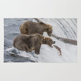 The Catch - Brown Bear vs. Salmon Rug