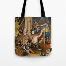 Visions of Hell by Heironymus Bosch Tote Bag