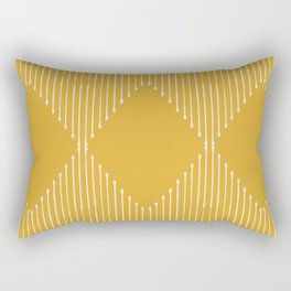 Geo / Yellow Rectangular Pillow