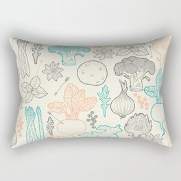 I love vegetables! Rectangular Pillow