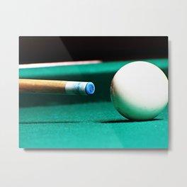 Pool Table-Green Metal Print