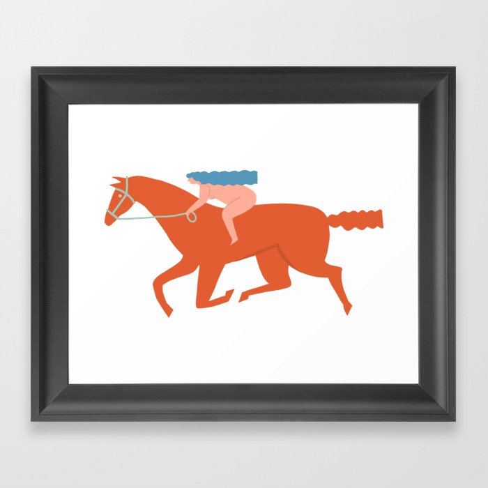 Naked derby Framed Art Print