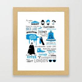 East London Framed Art Print
