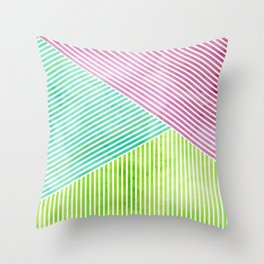Geometric Color Study II Throw Pillow