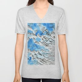 The Pyrenees as they appeared to me... Unisex V-Neck