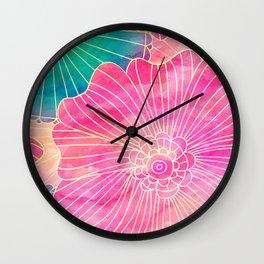 Floral Pattern 11 Wall Clock