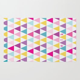 girlly bright triangles Rug