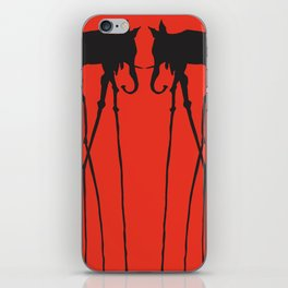 Salvador Dali Elephants iPhone Skin