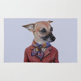 dog in uniform Rug