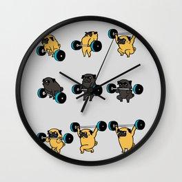 OLYMPIC LIFTING PUGS Wall Clock