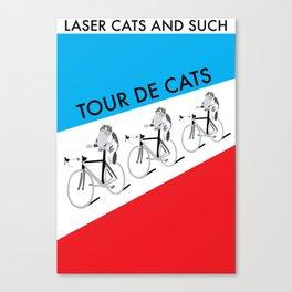 Tour De Cats Canvas Print