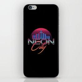 Neon City Retro Wave - 80's Aesthethics iPhone Skin