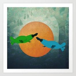 Platypus Love Art Print