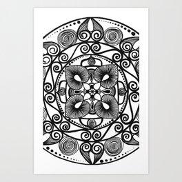 Geometric art Art Print