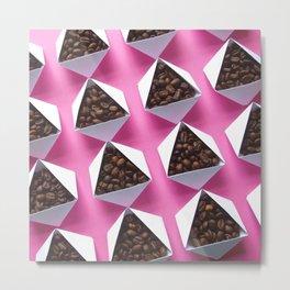 Pink Coffee Metal Print
