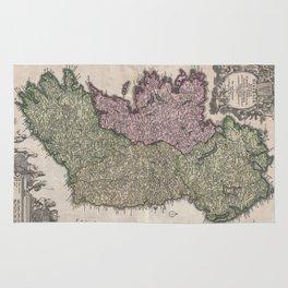 Vintage Map of Ireland (1716)  Rug