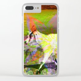 goat flower Clear iPhone Case