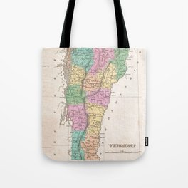 Vintage Map of Vermont (1827) Tote Bag