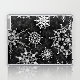 Gray Snowflakes Laptop & iPad Skin
