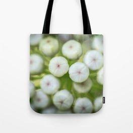 Wht-flowered Milkweed Tote Bag