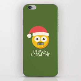 White Knuckle Christmas iPhone Skin