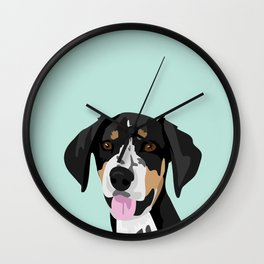Riley coonhound Wall Clock