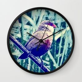 Bird Estrilda astrild Wall Clock