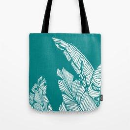 Banana Leaves on Teal #society6 #decor #buyart Tote Bag