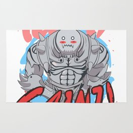 Alphonse Elric: Kawai Gainz Workout Design Rug