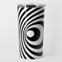 Vortex, optical illusion black and white Travel Mug