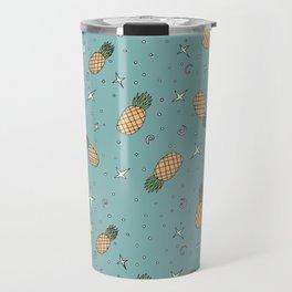 Atomic Pineapple - Blue Travel Mug