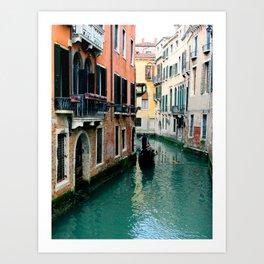 Venice Streets Art Print