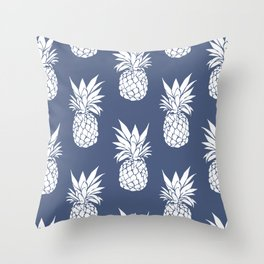 Pineapple Blues Throw Pillow