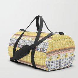 Fair Isle Christmas Alpaca Pattern Duffle Bag