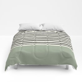 Sage Green x Stripes Comforters